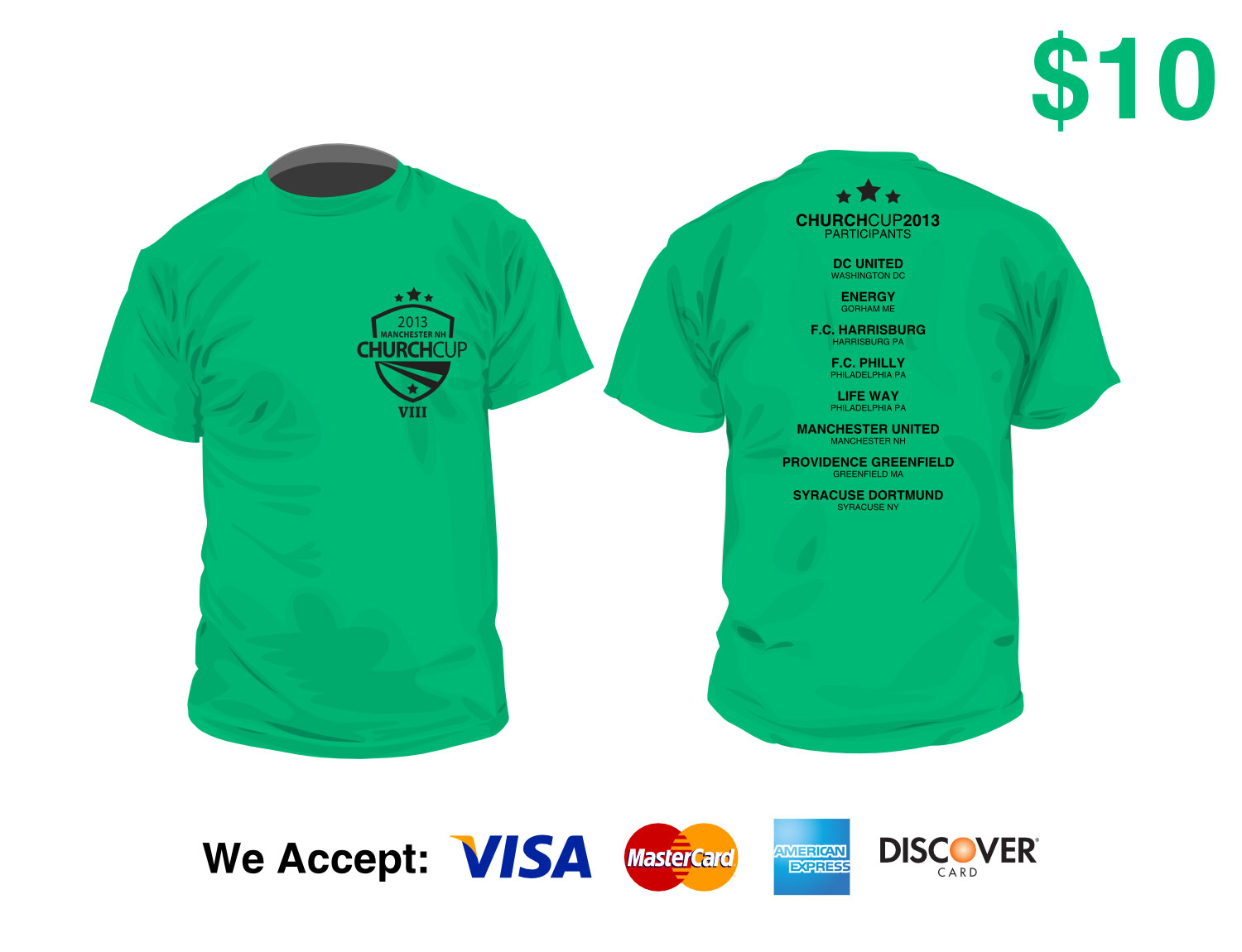 Order T-Shirts Ahead of Time | Church Cup 2017